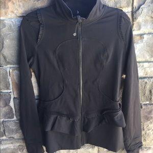 Under Armour Black zip jacket medium size
